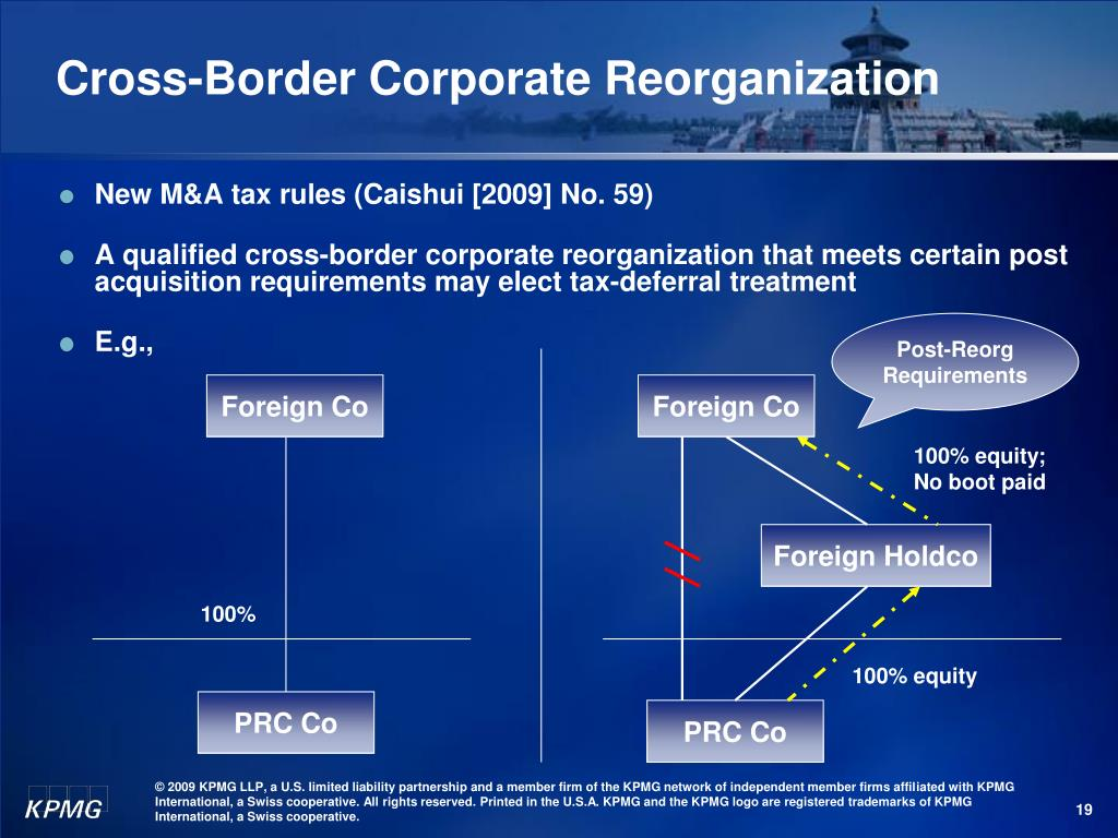 Cross-Border Corporate Reorganization