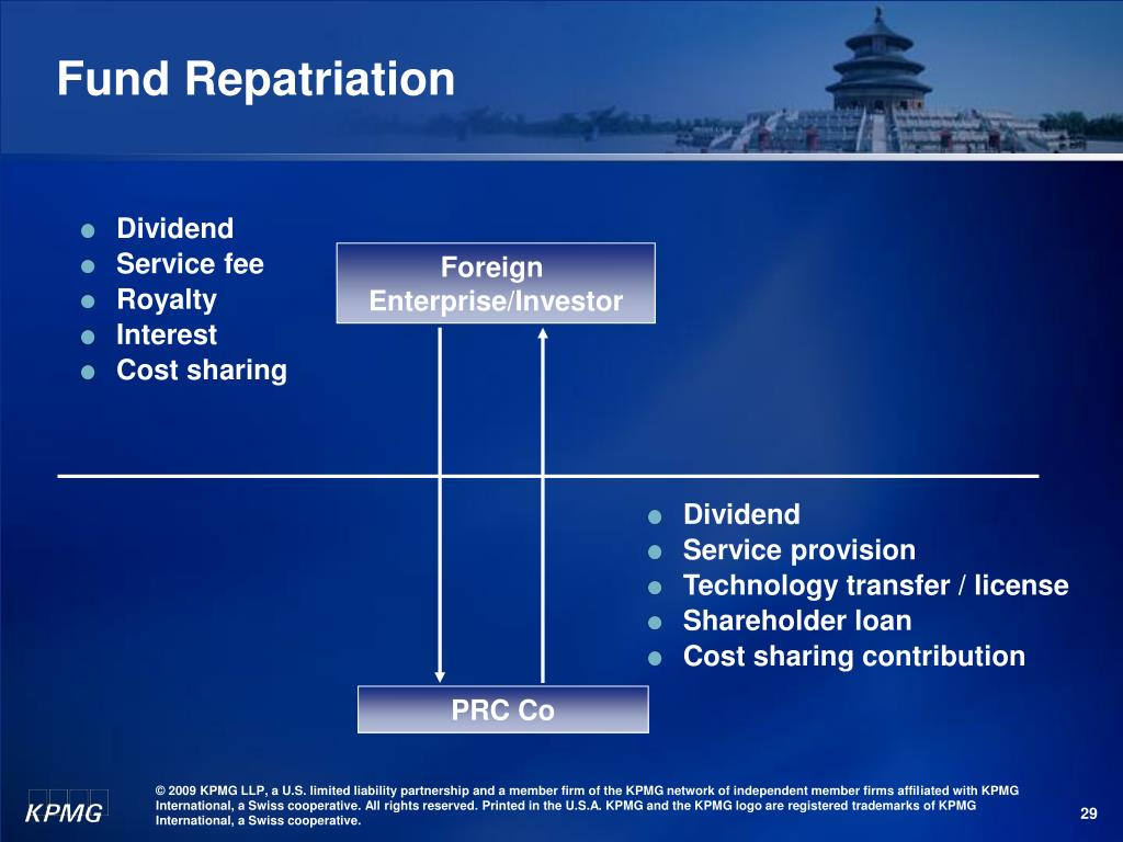 Fund Repatriation