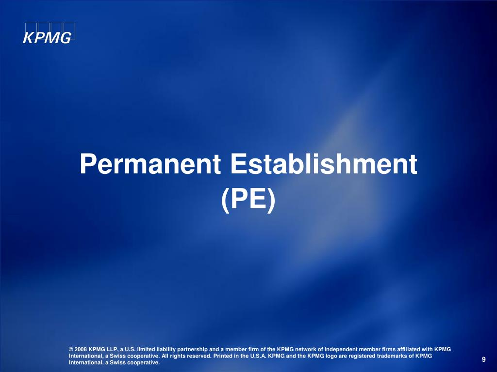 Permanent Establishment