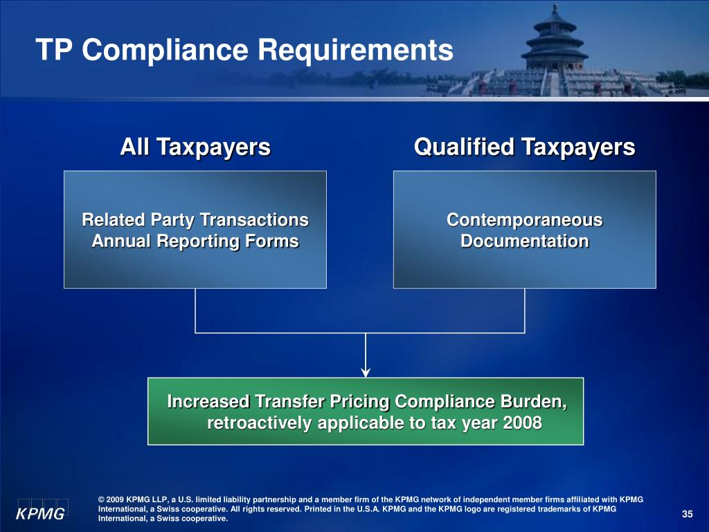 TP Compliance Requirements