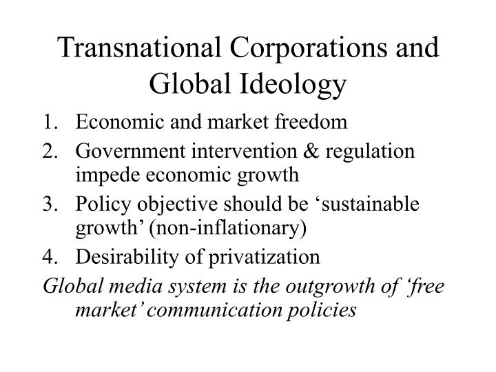 Transnational Corporations and Global Ideology