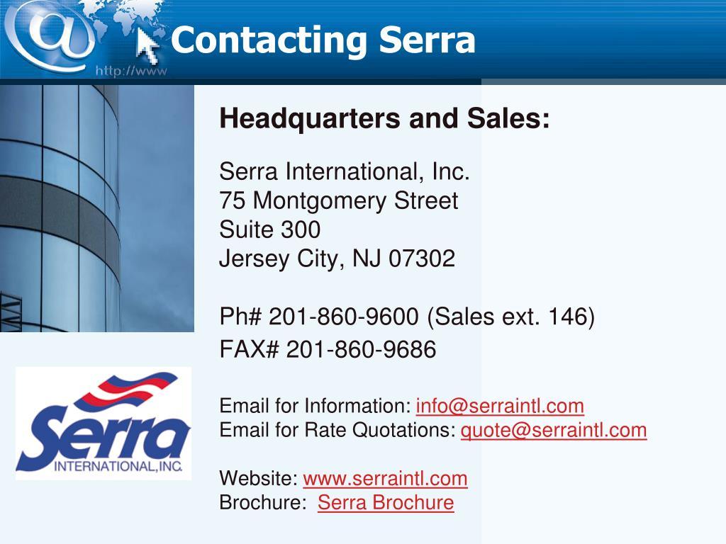 Contacting Serra