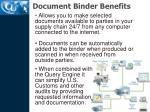 document binder benefits