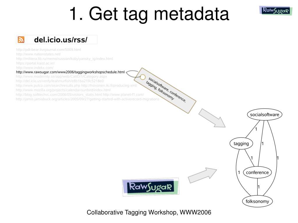 1. Get tag metadata
