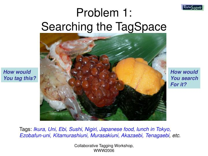 Problem 1 searching the tagspace
