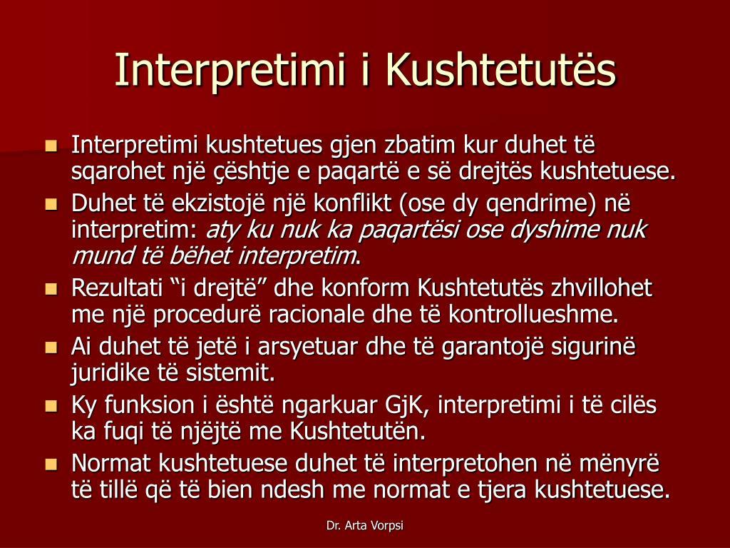 Interpretimi i Kushtetutës