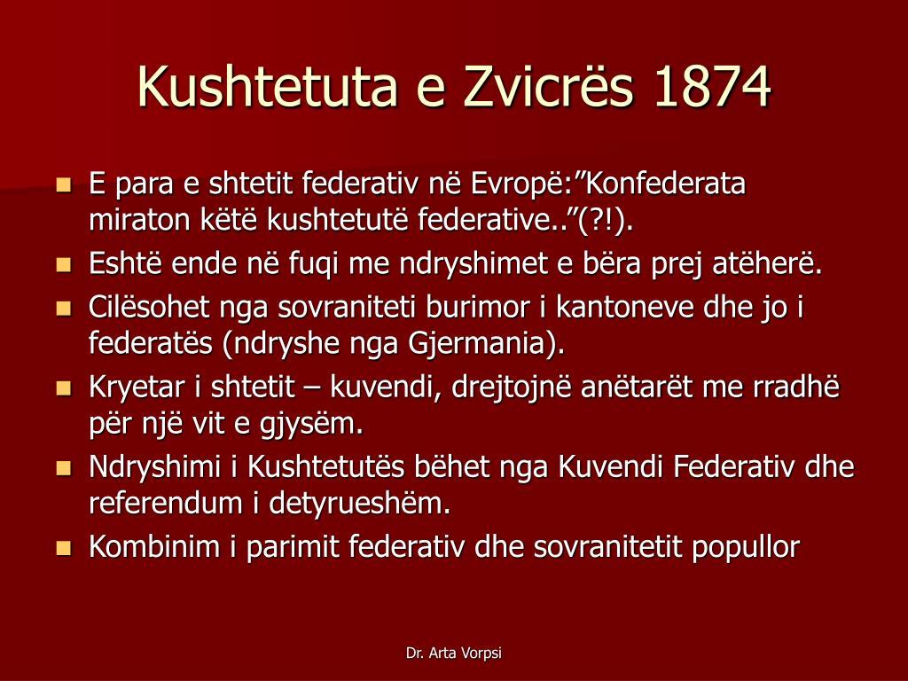 Kushtetuta e Zvicrës 1874