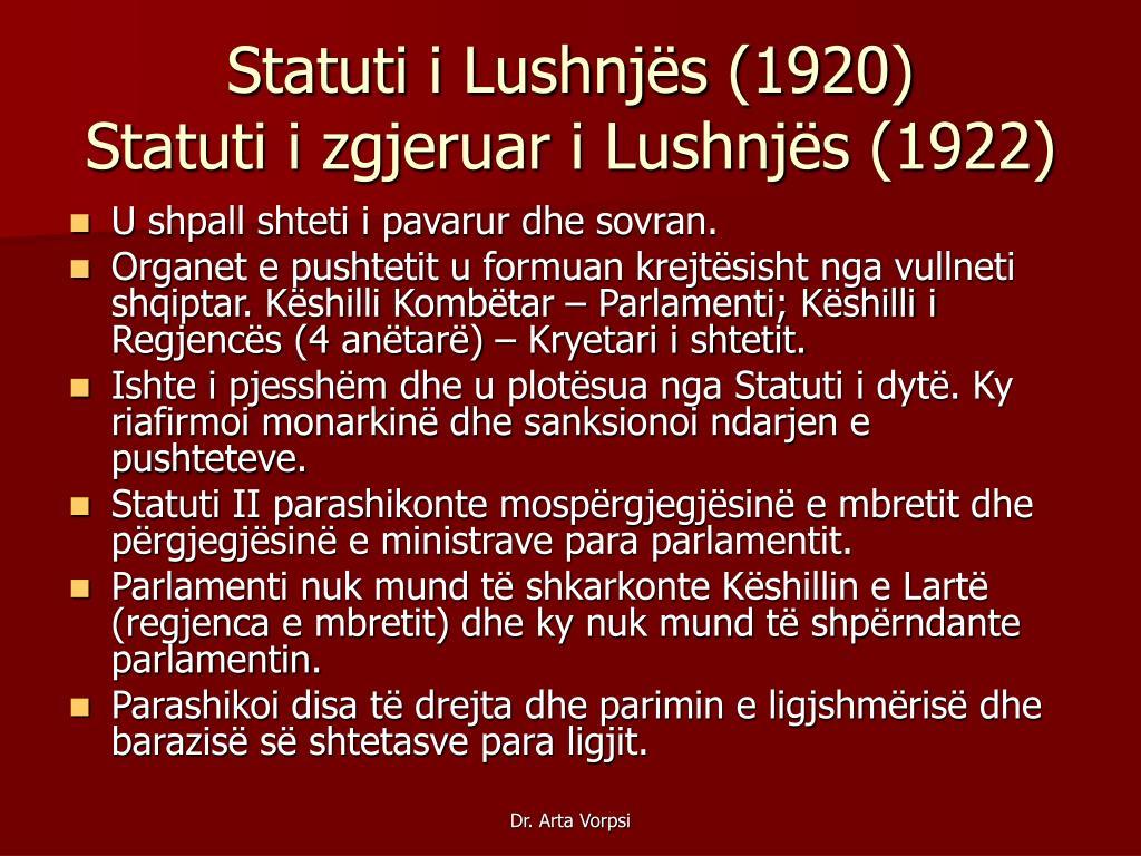 Statuti i Lushnjës (1920)