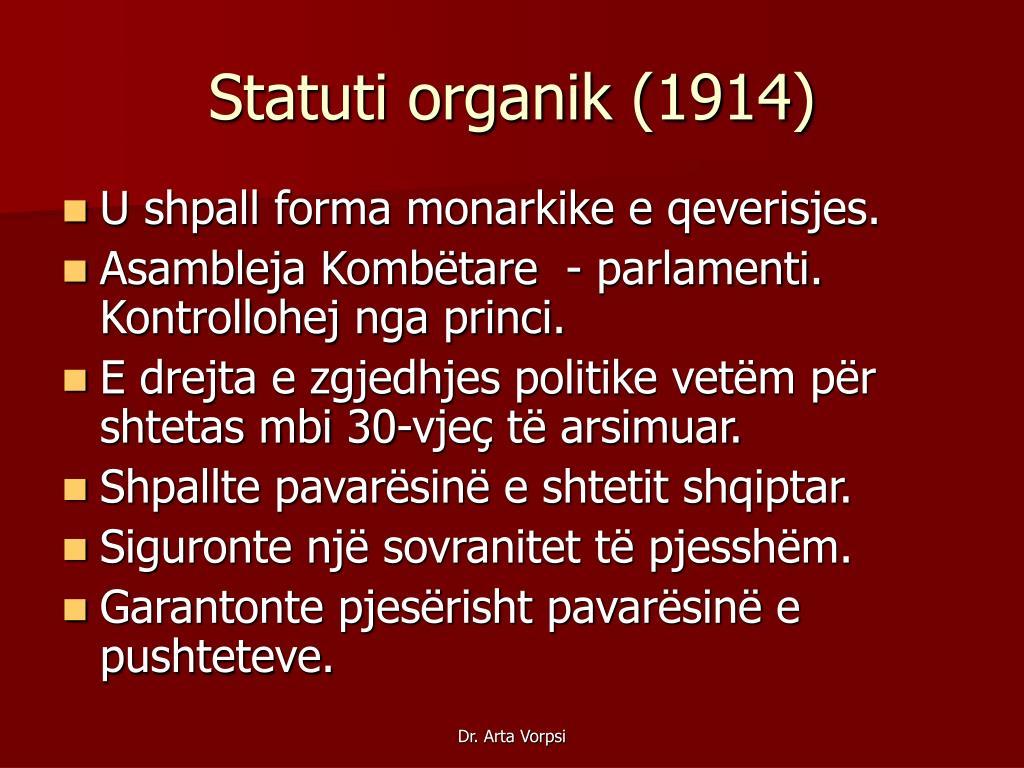 Statuti organik (1914)
