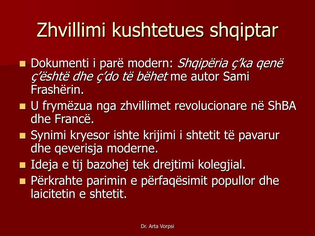Zhvillimi kushtetues shqiptar