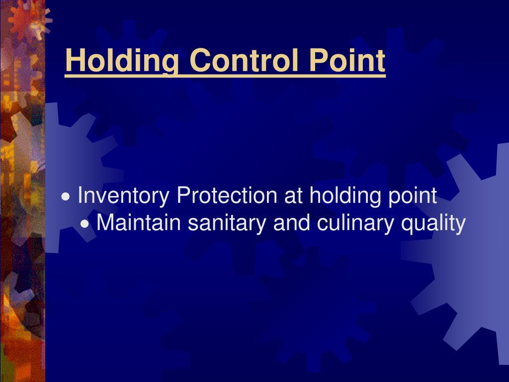 HoIding Control Point