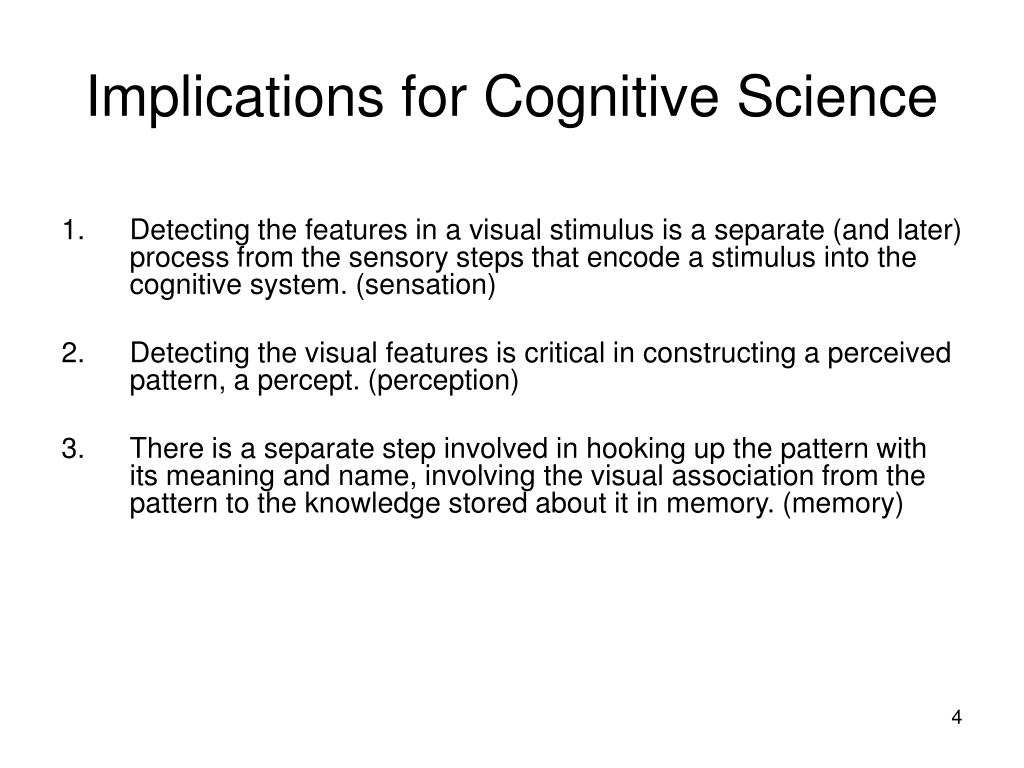 Implications for Cognitive Science
