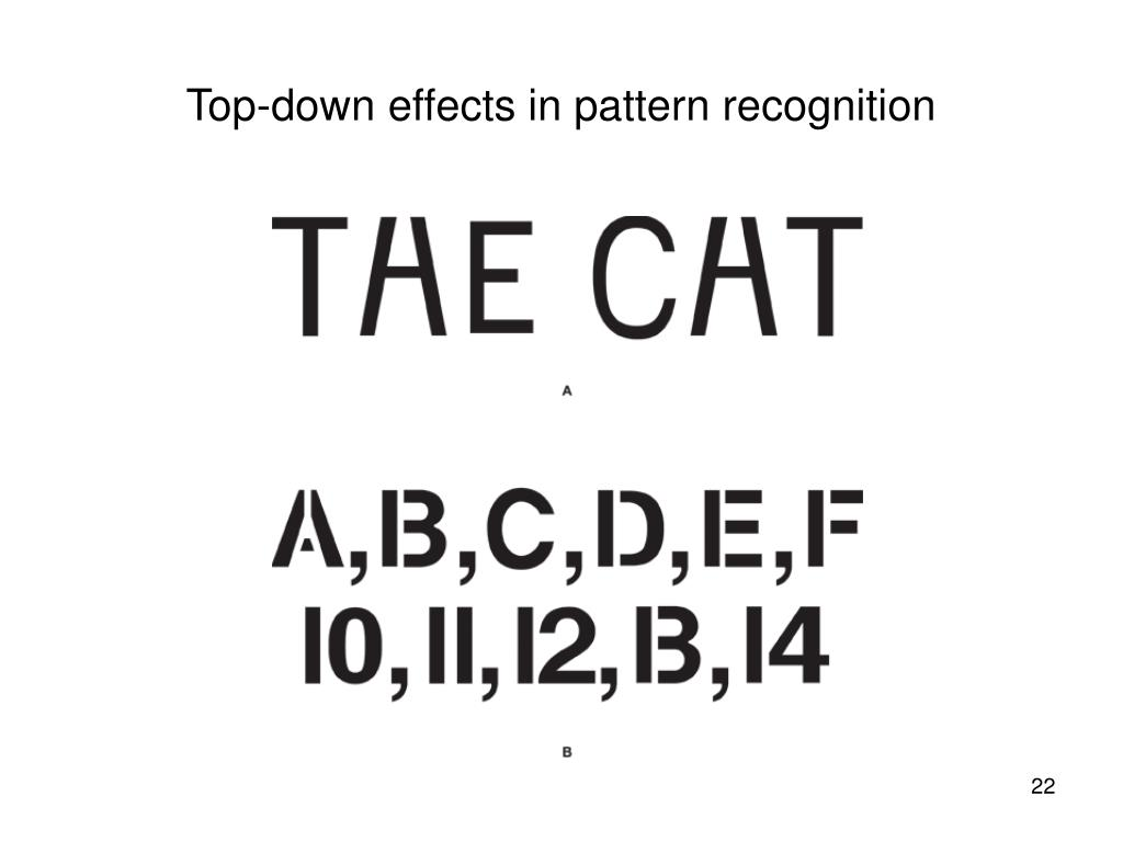 Top-down effects in pattern recognition