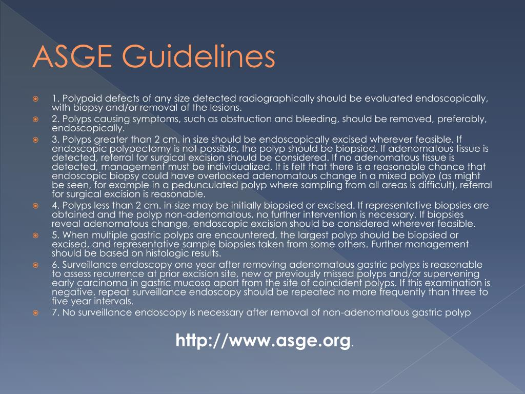 ASGE Guidelines