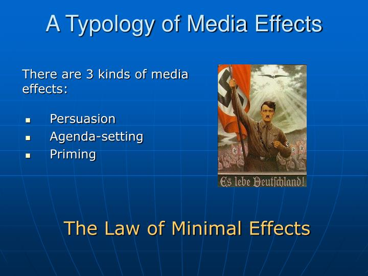 A Typology of Media Effects
