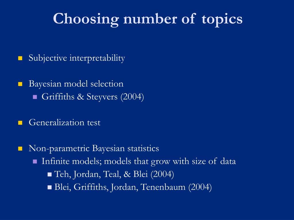 Choosing number of topics