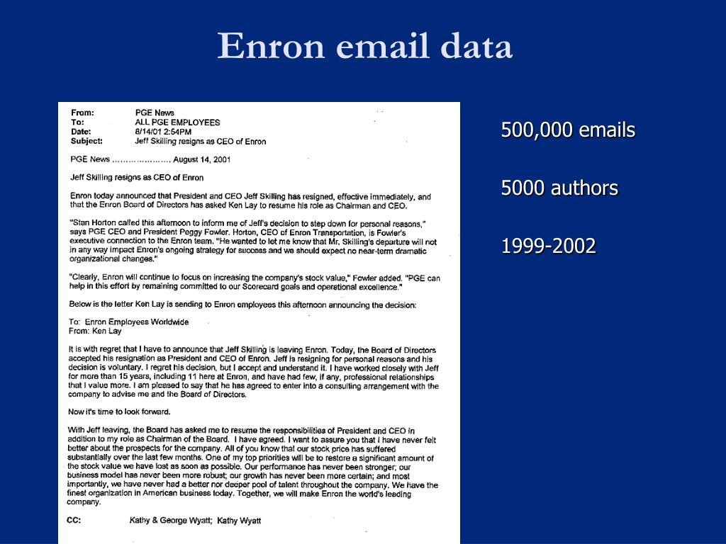 Enron email data