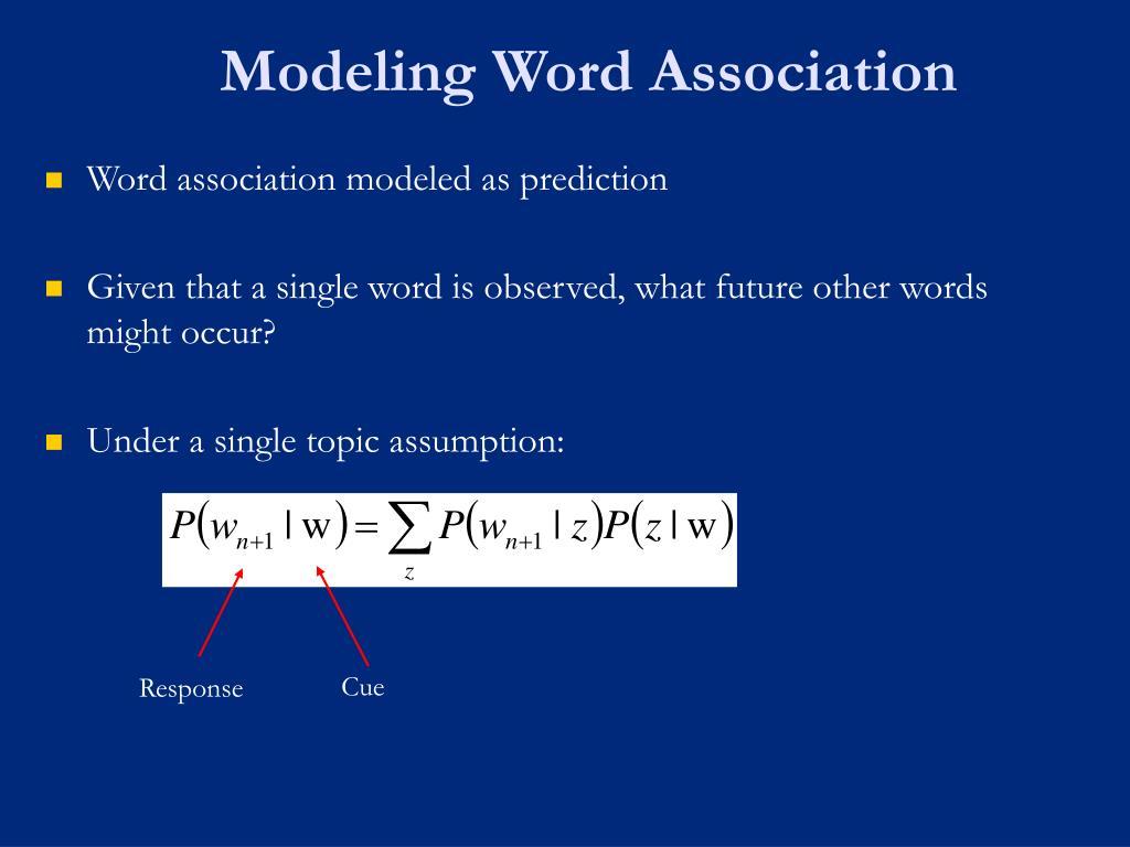 Modeling Word Association