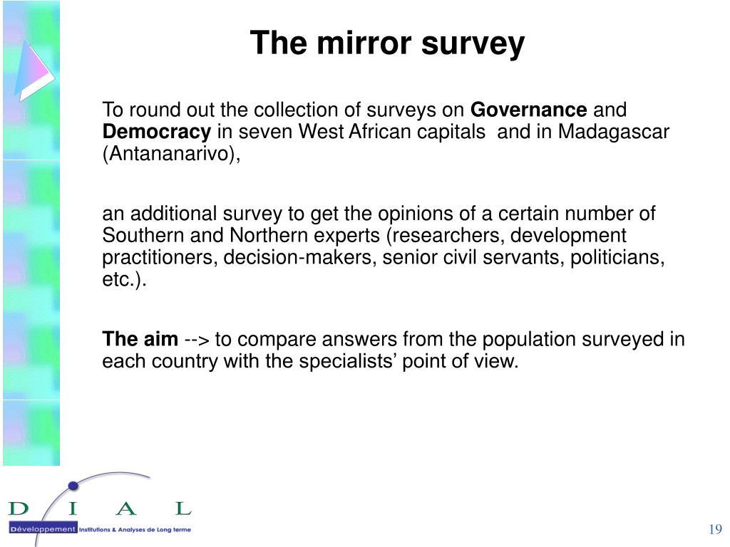 The mirror survey