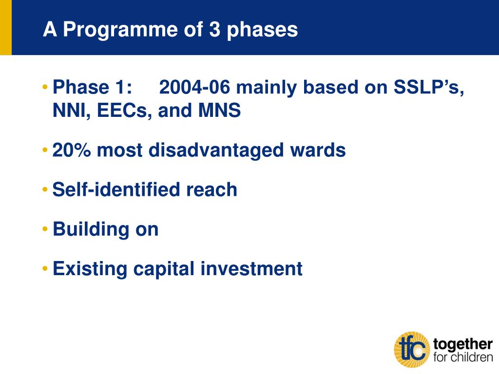 A Programme of 3 phases