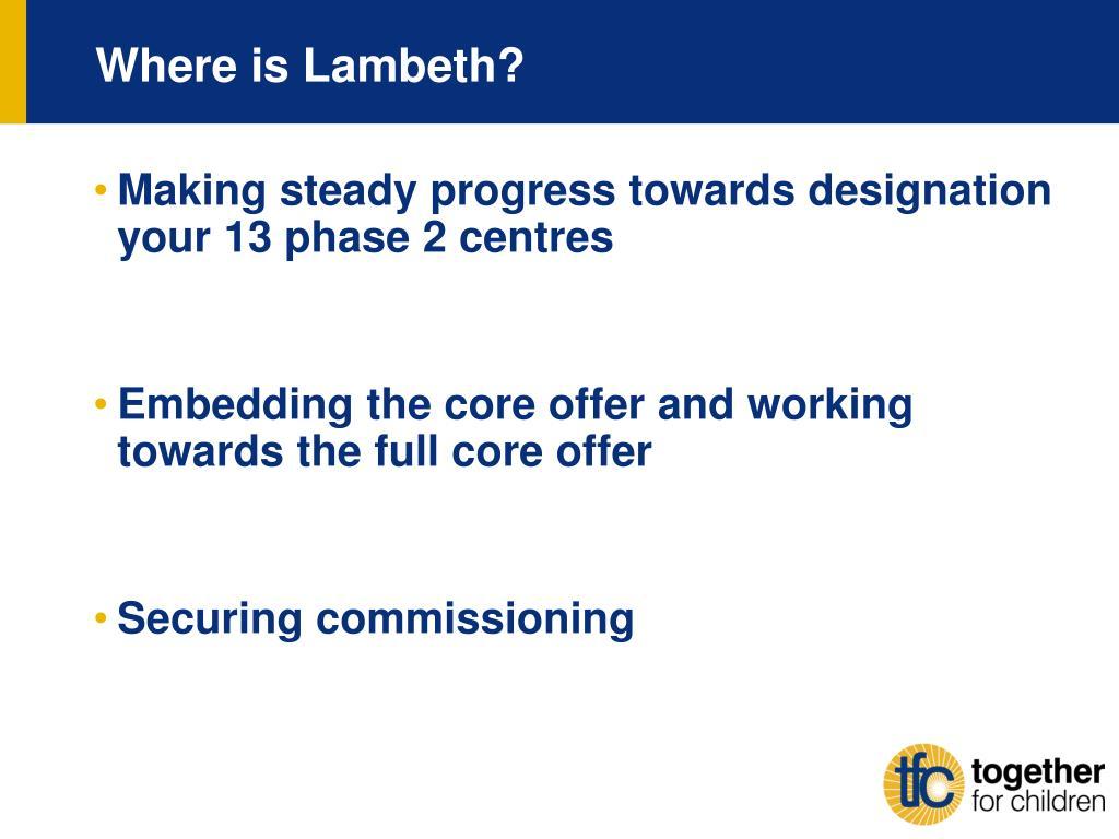 Where is Lambeth?
