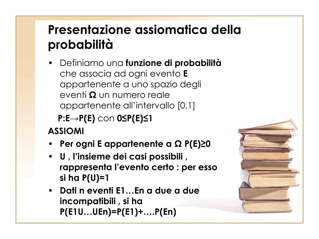 Presentazione assiomatica della probabilità
