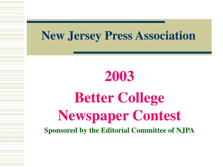 New jersey press association