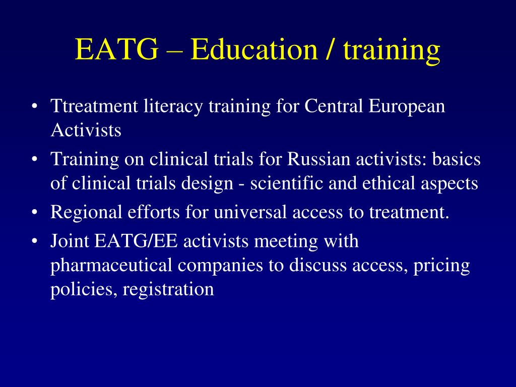 EATG – Education / training