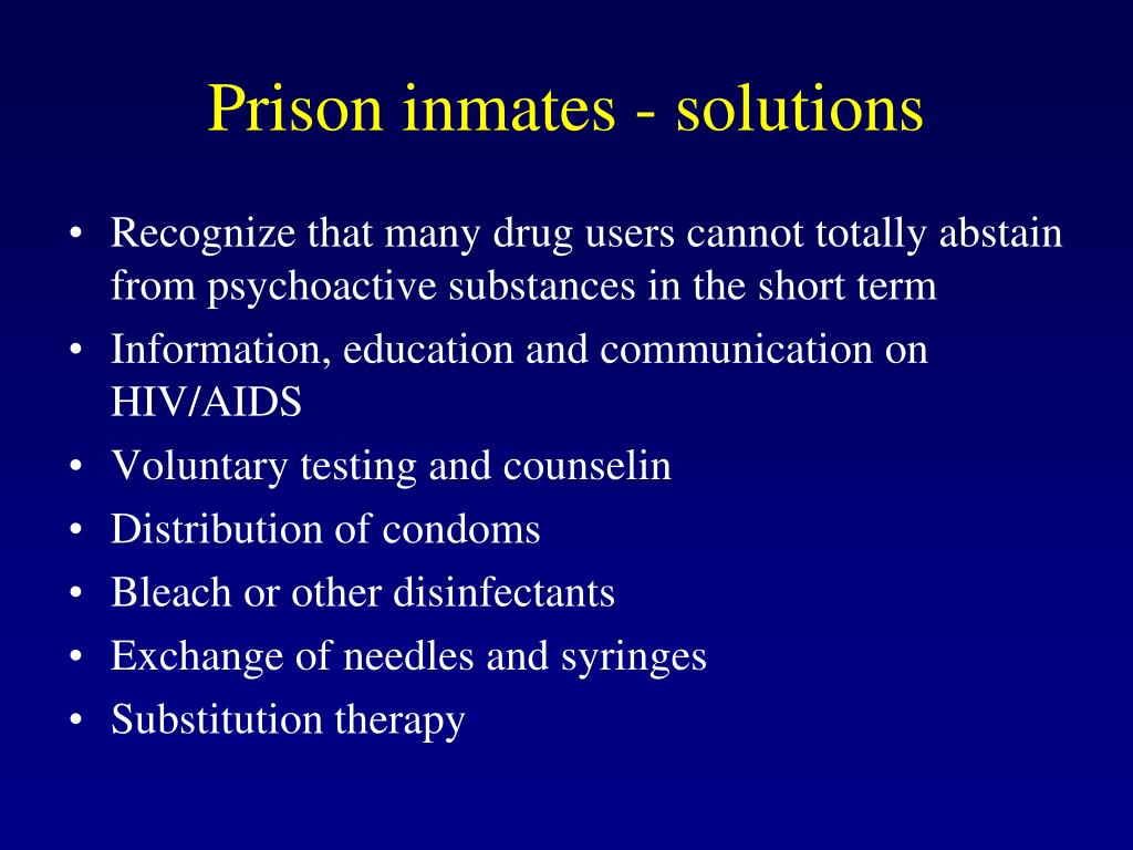 Prison inmates - solutions
