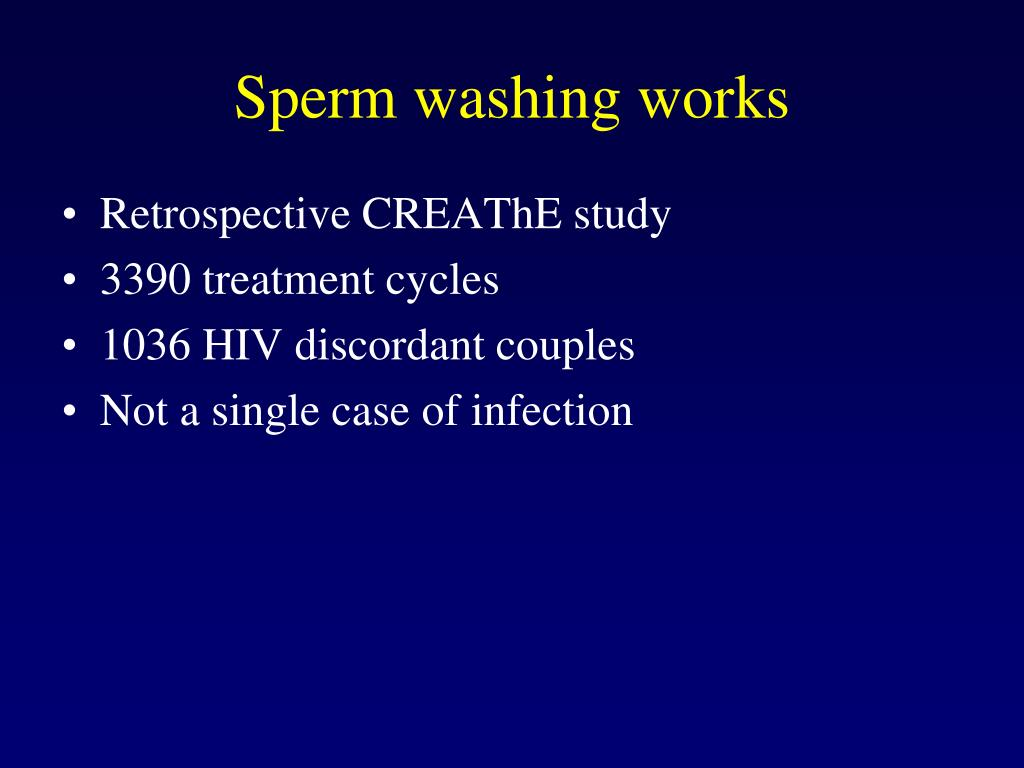 Sperm washing works