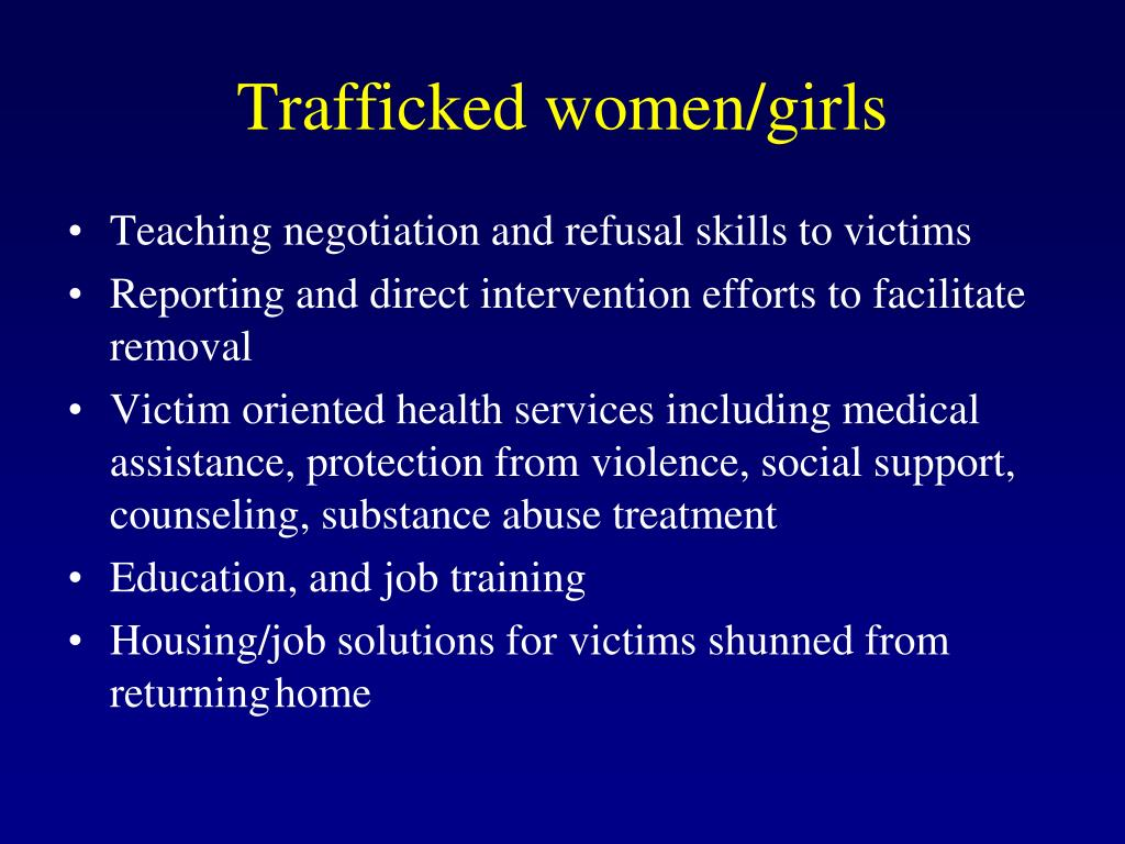 Trafficked women/girls