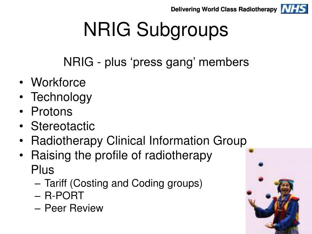 NRIG Subgroups