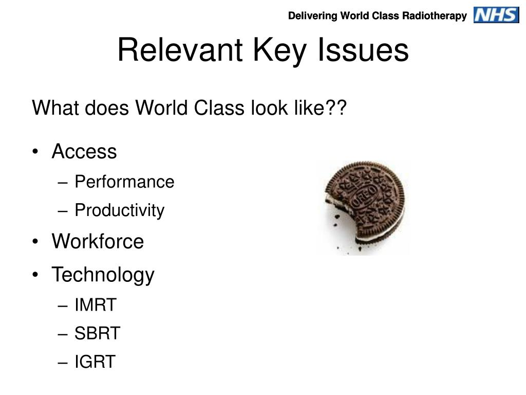 Relevant Key Issues