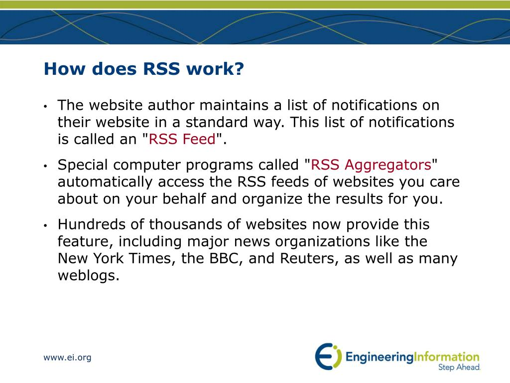 How does RSS work?