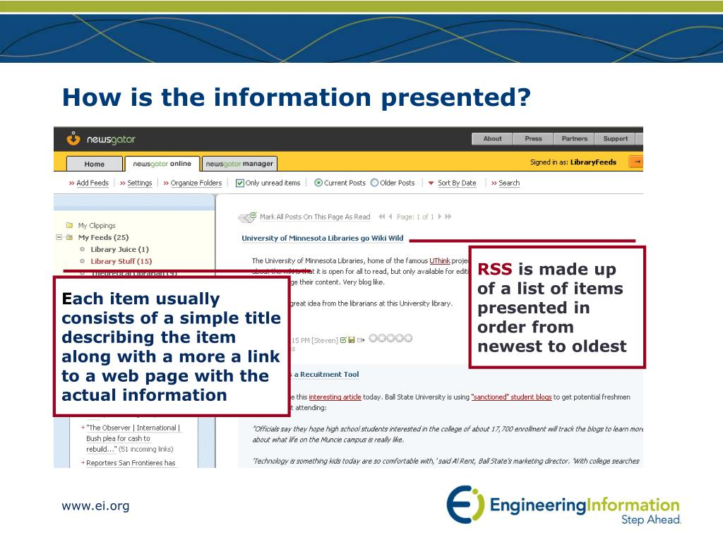 How is the information presented?