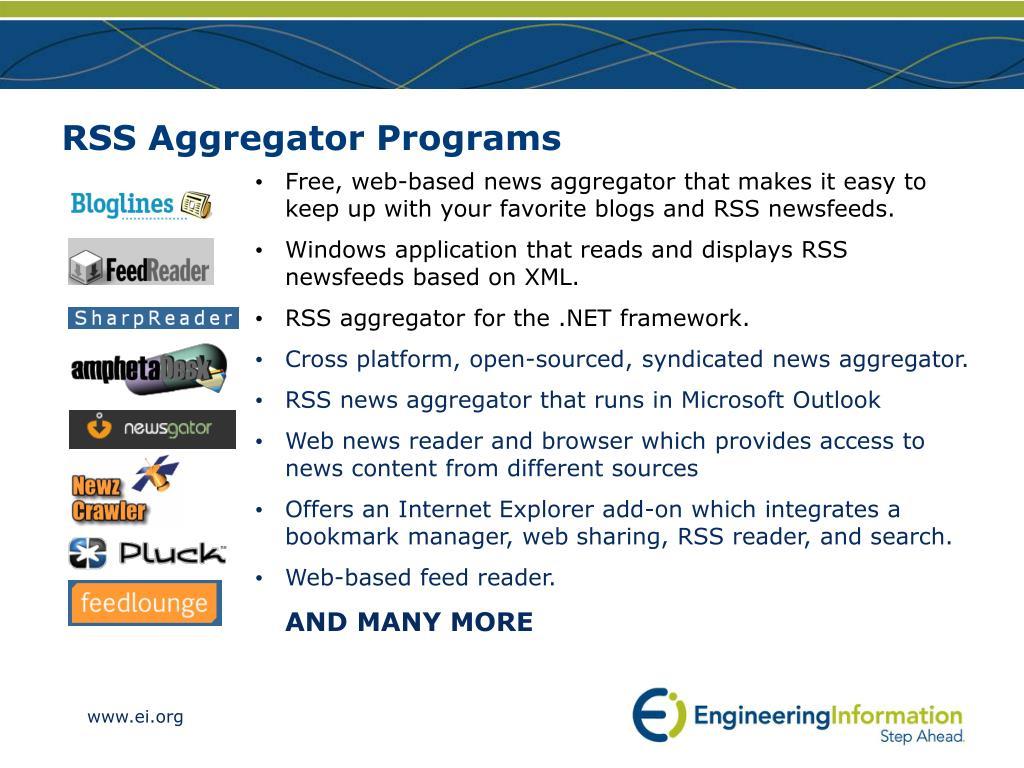 RSS Aggregator Programs