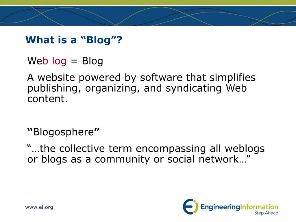 "What is a ""Blog""?"