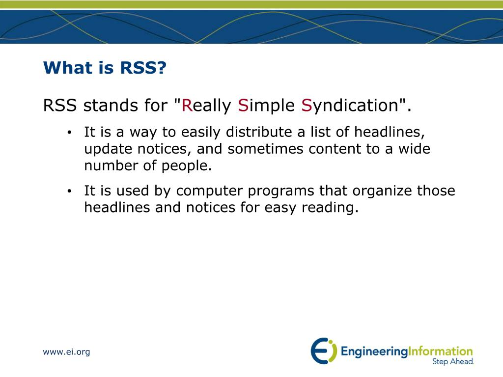 What is RSS?