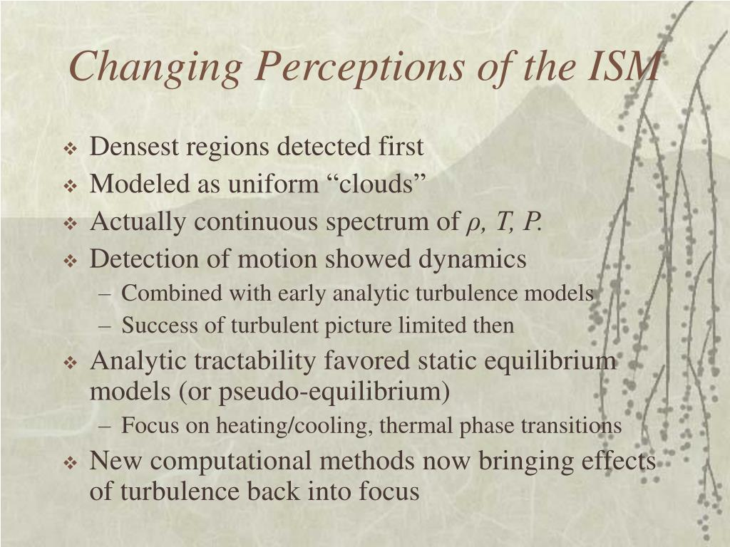 Changing Perceptions of the ISM