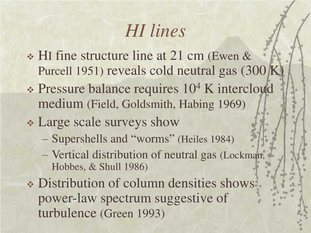 HI lines