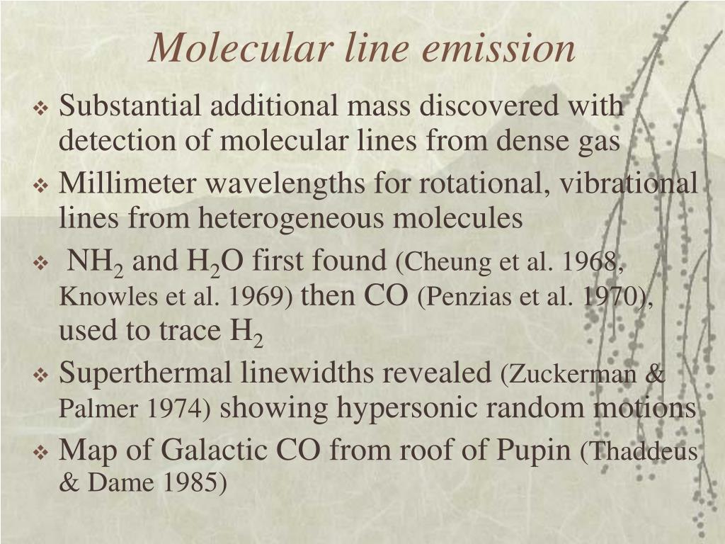 Molecular line emission