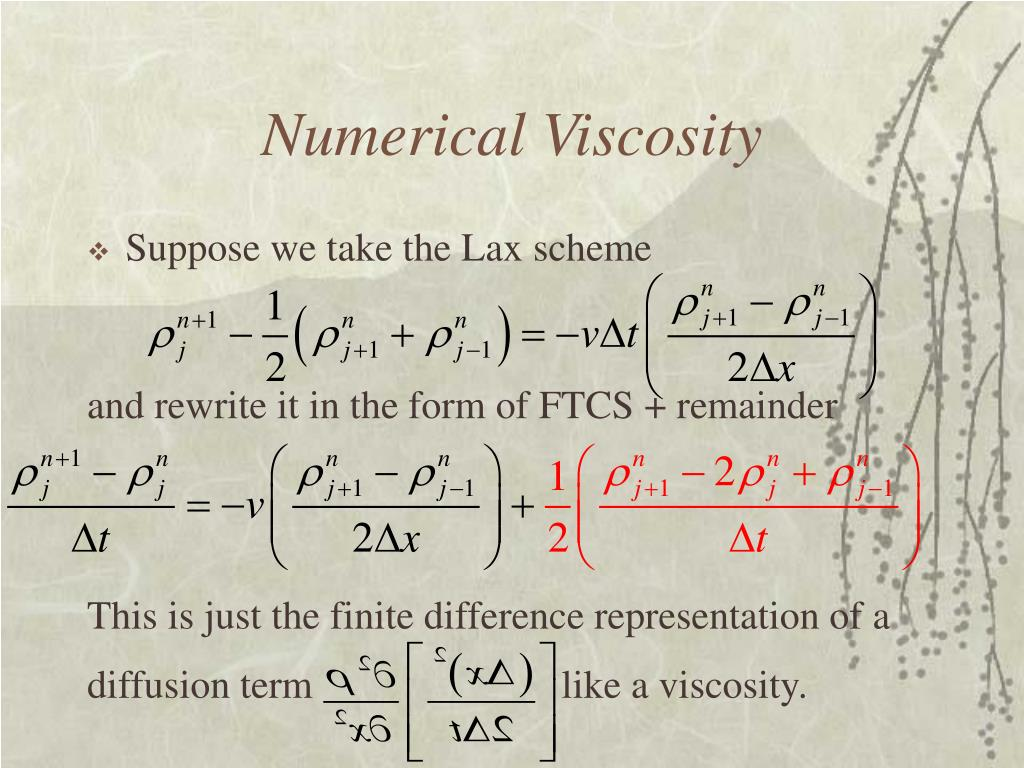 Numerical Viscosity