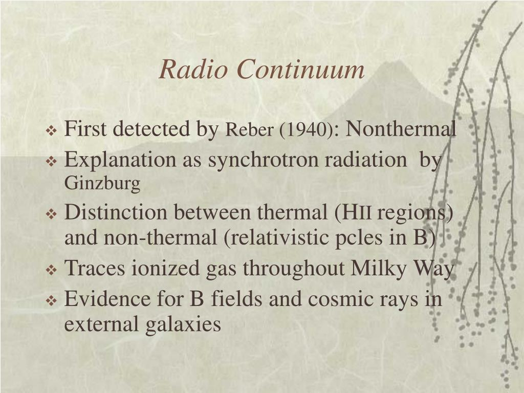 Radio Continuum