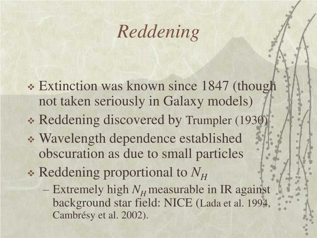 Reddening