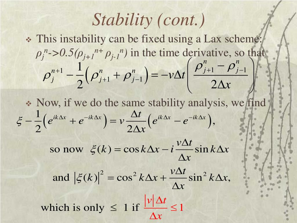 Stability (cont.)