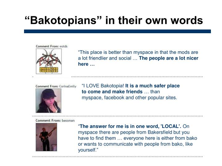 """Bakotopians"" in their own words"