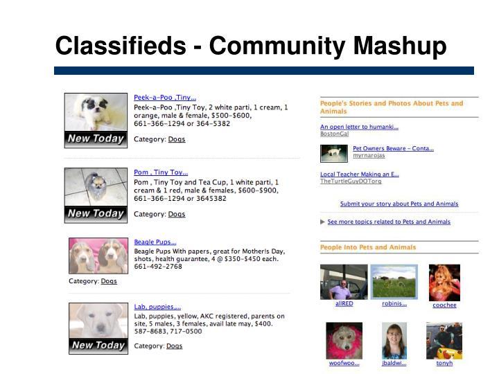 Classifieds - Community Mashup