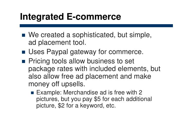 Integrated E-commerce