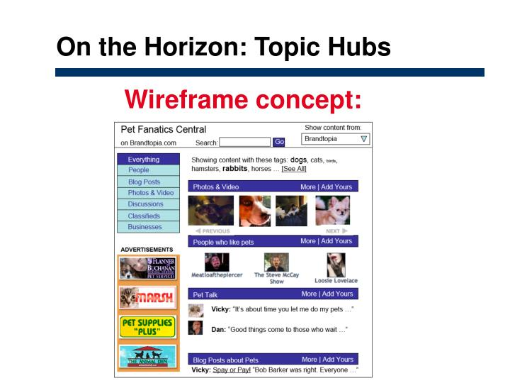 On the Horizon: Topic Hubs