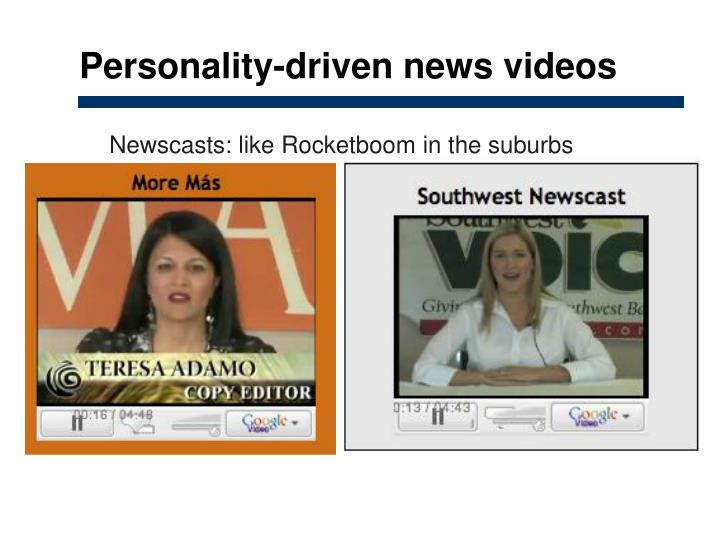 Personality-driven news videos